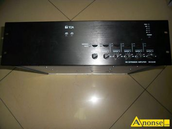 Anonse AMPLITUNER toa vm-3240e vm extension amplifier240, kolor czarny, stan uzywany, stan bardzo dobry, Power source, 230 V ac, 50/60 hz, Power co