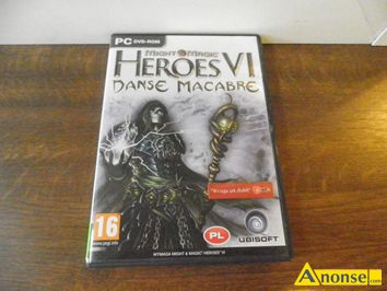 Anonse ADVENTURE pack do, heroes vi, PC danse macabre, stan uzywany, grę, of might and Magic vi, makabre, w opakowaniu znajduje się jedna płyta : b