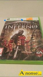Anonse 6 gier na xbox 360, stan uzywany, zestaw, konsole, 30, dantes inferno, STAR wars kinect, dance 3 central, halo3, fear, opec ops the