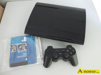 Anonse PS3 super slim 12 GB + pad+ hdmi+ dokumenty, wersja PLAYSTATION 3 slim, pojemnosc dysku 12 gb, stan uzywany, Przedmiotem iejszej aukcji jest