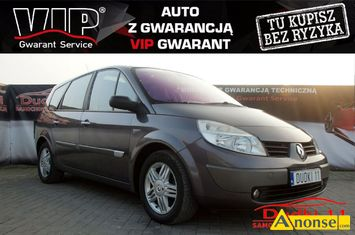 Anonse RENAULT GRAND SCENIC, 2004r., 2.000cm<sup>3</sup>, 136KM, B, hatchback, 207.000km, fioletowy, metalik, abs, regulacja wysokosci fotela, autoalarm, immobiliser,
