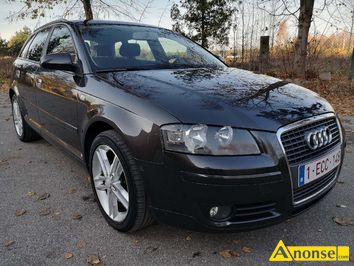 Anonse AUDI A3, 2006r./VII, 1.900cm<sup>3</sup>, 105KM, turbo diesel + intercooler, hatchback, 252km, czarno brazowy, metalik, ABS, immobiliser, ASR, autoalar