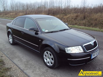 Anonse SKODA SUPERB, 2008r./XI, 1.968cm<sup>3</sup>, 140KM, turbo diesel + intercooler, sedan, 164km, czarny, metalik, ABS, immobiliser, ASR, autoalarm, podus