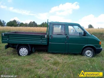 Anonse VW TRANSPORTER, 2012r./X, 2,5cm<sup>3</sup>, 88KM, diesel, 307.675km, zielony, pick-up, regulacja świateł, 1.właściciel, hak holowniczy, bezwypadkowy,