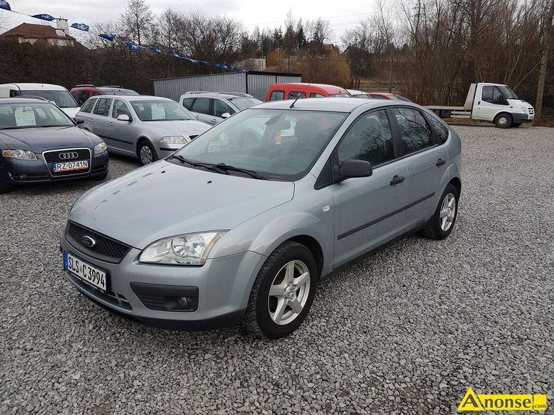 FORD FOCUS, 2005r., 1.600cm#, 101KM , benzyna, hatchback, 156.000km, srebrny, abs, regulacja wysoko - image 0 - anonse.com