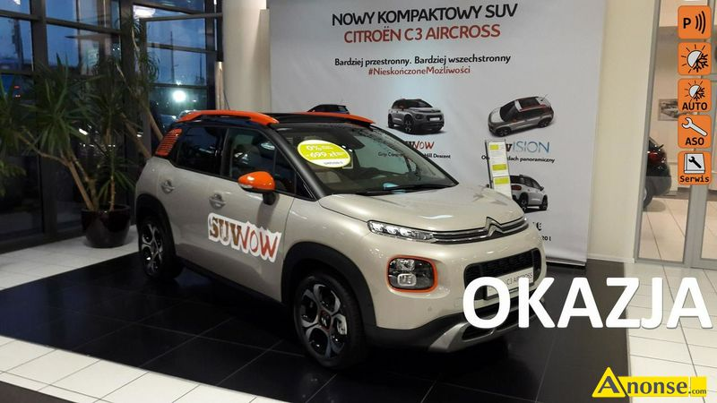 Citroen  C3 Aircross, 2017r., 1.200cm3, 110KM , benzyna, hatchback, 5.000km, beżowy, metalik,opis d - image 0 - anonse.com