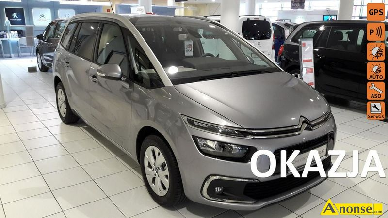 CITROEN C4 Grand Picasso, 2018r., 1.200cm#, 130KM, benzyna, hatchback, 3km, srebrny, metalik, abs,  - image 0 - anonse.com