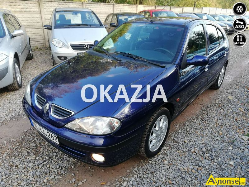 RENAULT  MEGANE, 2002r., 1.600cm3, 107KM , benzyna, hatchback, 147.551km, granatowy, metalik,opis d - image 0 - anonse.com