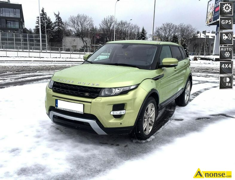 Land  Rover Range Rover Evoque, 2013r., 1.999cm3, 240KM , benzyna, hatchback, 47.000km, zielony, me - image 0 - anonse.com